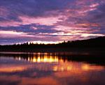 Закат на устье Чуны