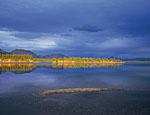 Озеро Малый Дарпир, северная оконечность. Устье реки Дарпир-Сиен верхний. Особенно важны всегда моменты, когда солнце находится вблизи горизонта. Тогда освещение наиболее эффектно.