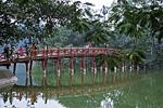 Вьетнам, Ханой, озеро Хоанкьем, мост Хук