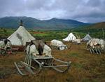 Стойбище оленеводов-хантов в долине Большой Папудыны.