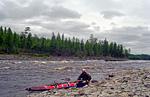 Первые, пока ещё не сложные пороги на реке Мойеро.