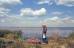 Долгожданное озеро, к которому так мучителен был путь. Здесь находятся истоки вожделенной реки Оленёк. Но на этом испытания не закончились.